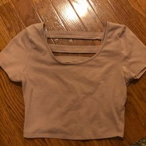 Super cute and comfy mauve color crop top